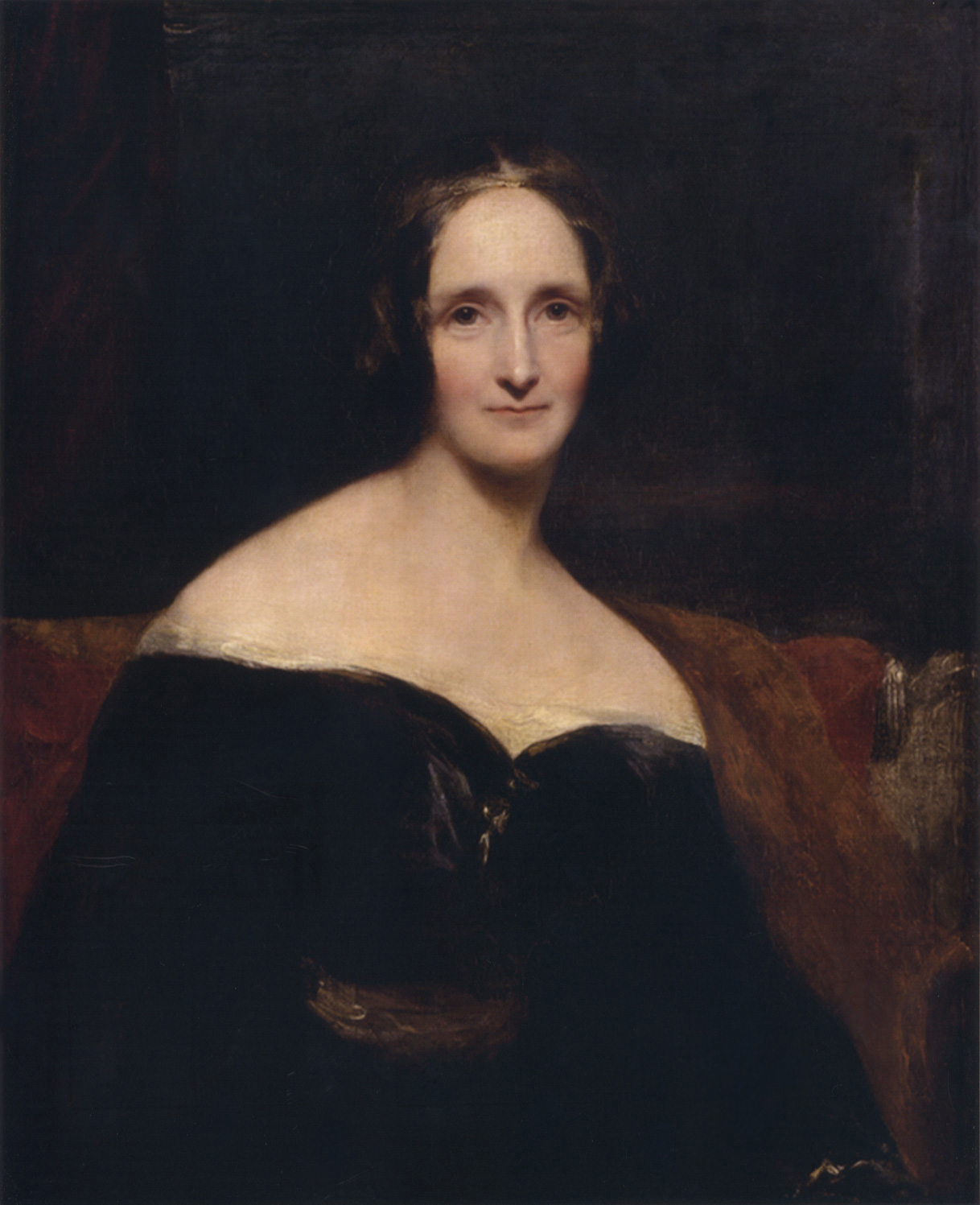 mary shelley s frankenstein the themes of giving birth and english portrait of mary shelley