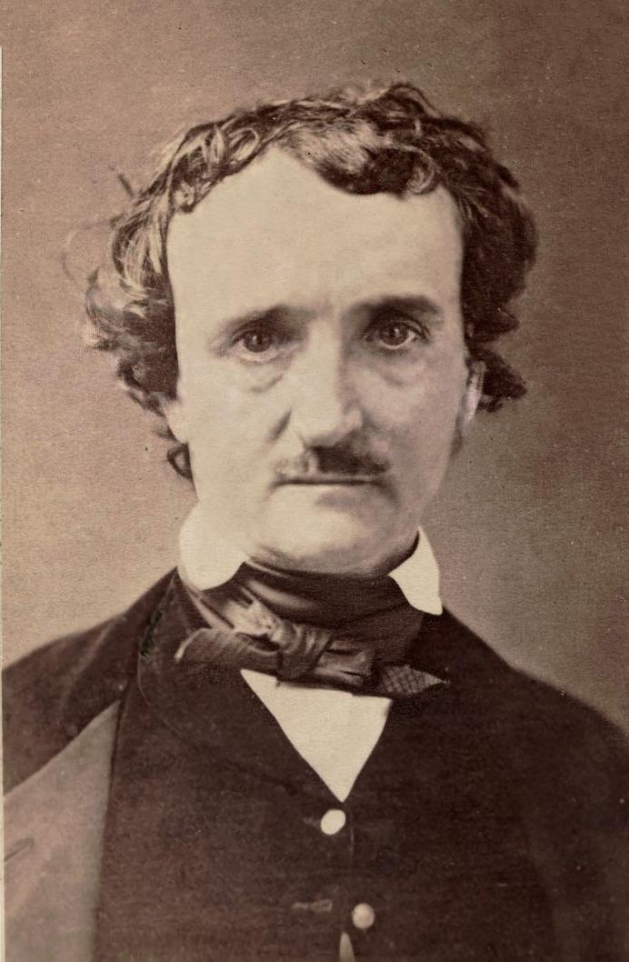 Carte De Visite Of Edgar Allan Poe