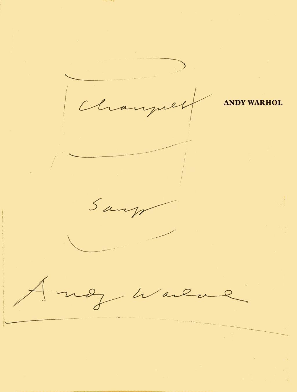 art from marcel duchamp all the way to andy warhol  autograph and sketch by andy warhol