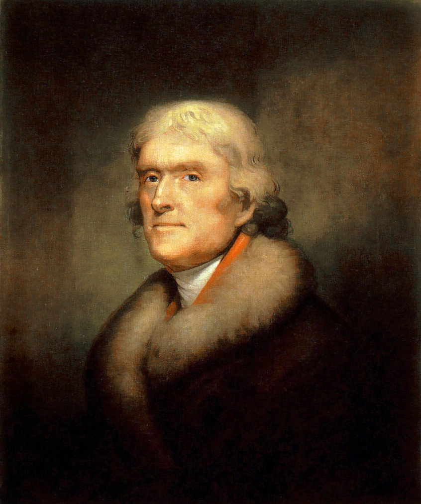 a lesson before dying writework portrait of thomas jefferson by rembrandt peale 1805 new york historical society