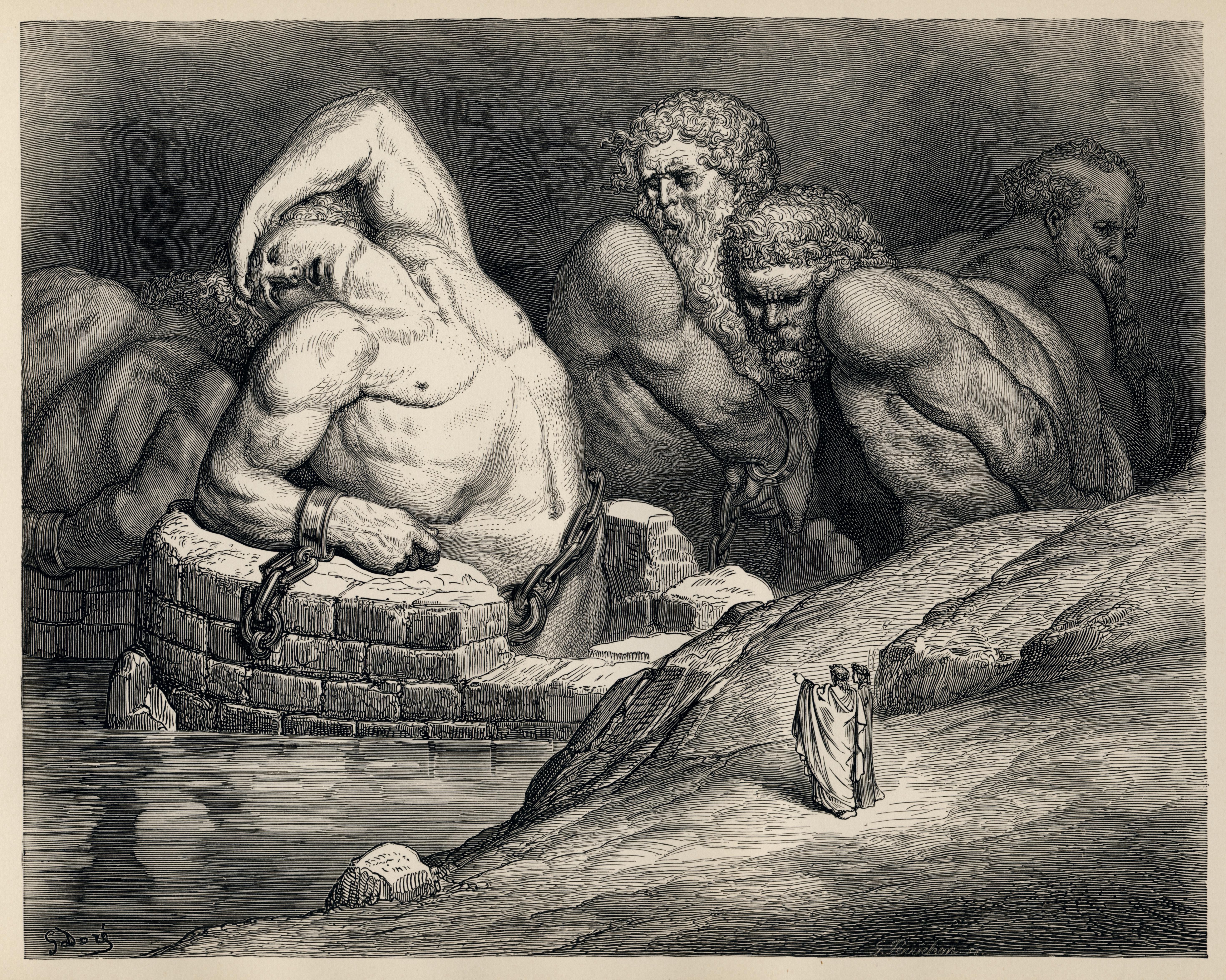 Dantes Inferno  Writework Titans And Other Giants Are Imprisoned In Hell In This Illustration By  Gustave Dor Of Dantes