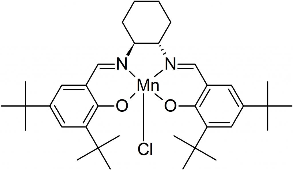 asymmetric epoxidation of dihydronaphthalene with a Imidazolium-based ionic liquid (il)-functionalized graphene oxide complex in asymmetric epoxidation of α-methylstyrene, indene, 1,2-dihydronaphthalene.