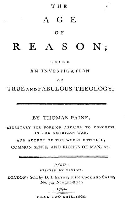 thomas paine enlightenment essays