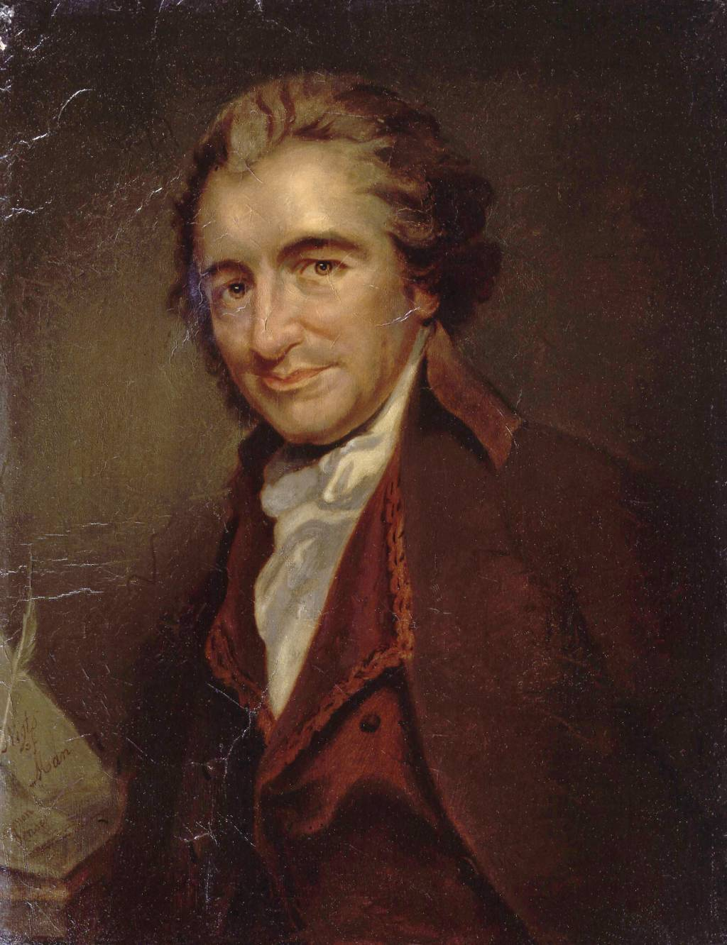 thomas paine propaganda and persuasion writework thomas paine a painting by e milliere 1880 after an engraving by