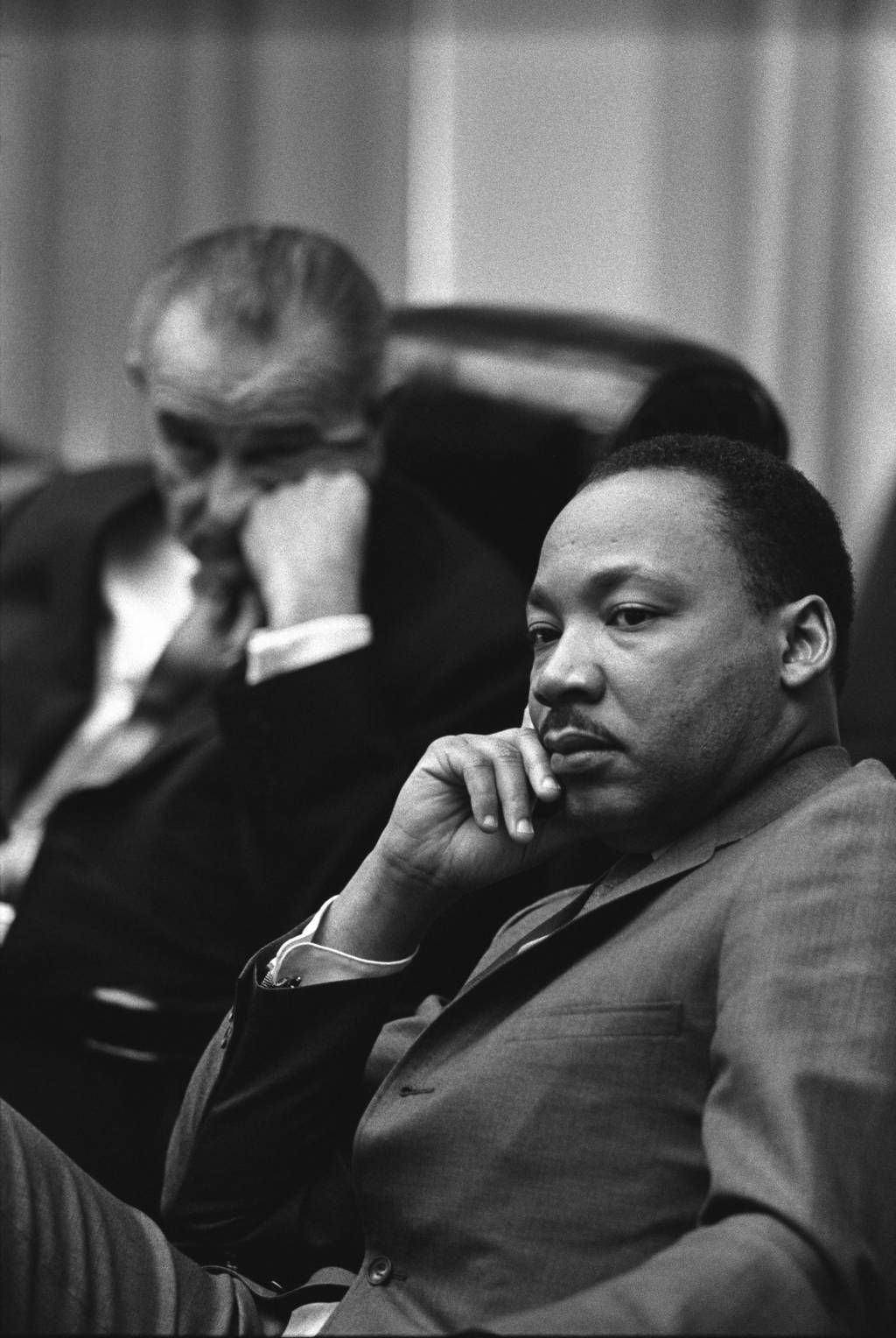 what is the deference between martin luther king and patrick henry president lyndon b johnson and rev dr martin luther king jr