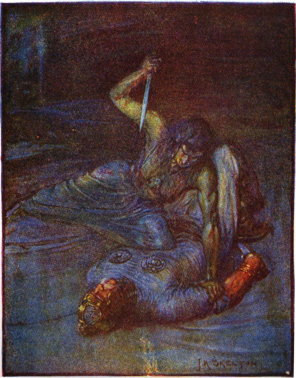 beowulf writework an illustration of grendel s mother by j r skelton from stories of beowulf 1908 described