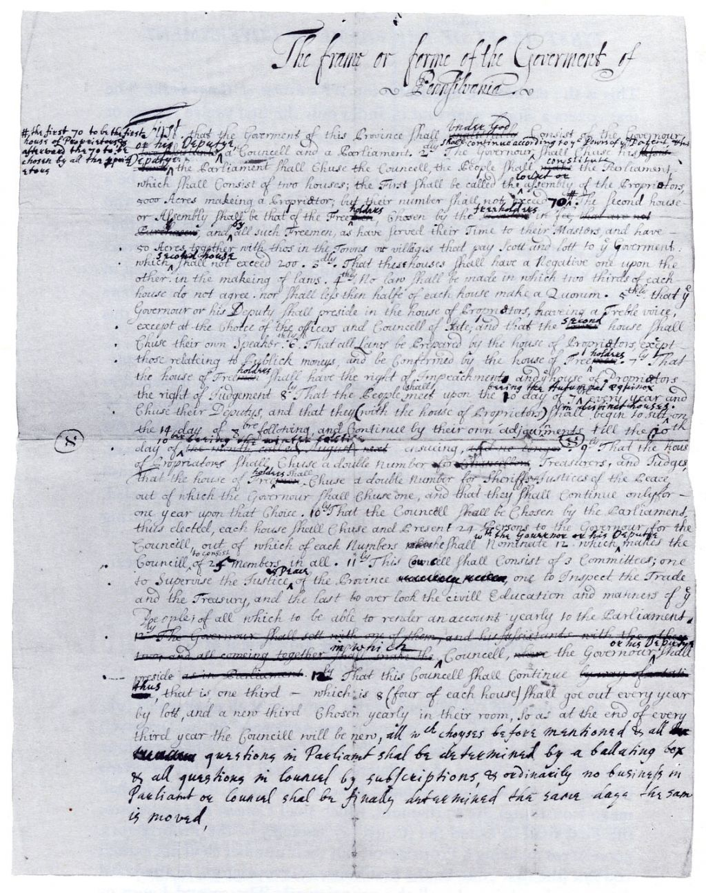 essays by william penn William penn's charter of privileges in 1701, william penn created a charter of privileges for the residents of his colony penn envisioned a colony that permitted religious freedom, the consent and participation of the governed, as well as other laws pertaining to property rights.