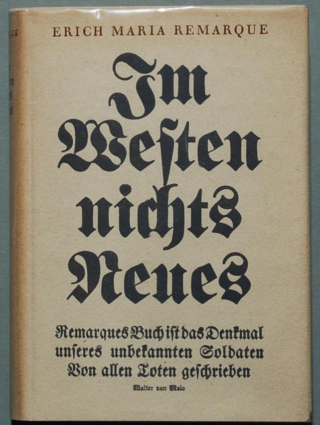all quiet on the western front by paul baumer writework remarque erich maria im westen nichts neues r berlin propylatildecurrenen 1929