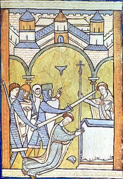 during the middle ages  there was a struggle for power between the    english  earliest known portrayal of thomas becket    s murder in canterbury cathedral  polski  morderstwo