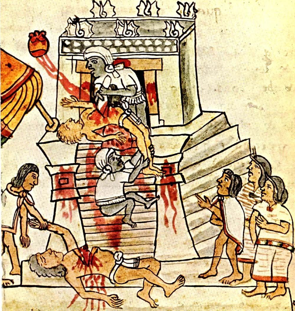 Aztec sacrifice girl cartoon vids