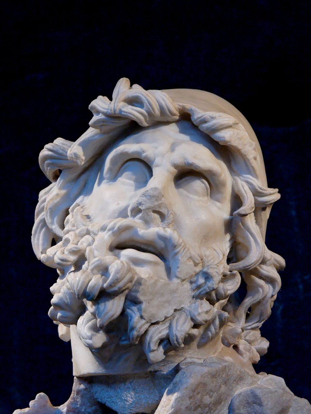 hospitality in the odyssey of homer a verse translation by english head of odysseus from a sculptural group representing odysseus blinding polyphemus marble