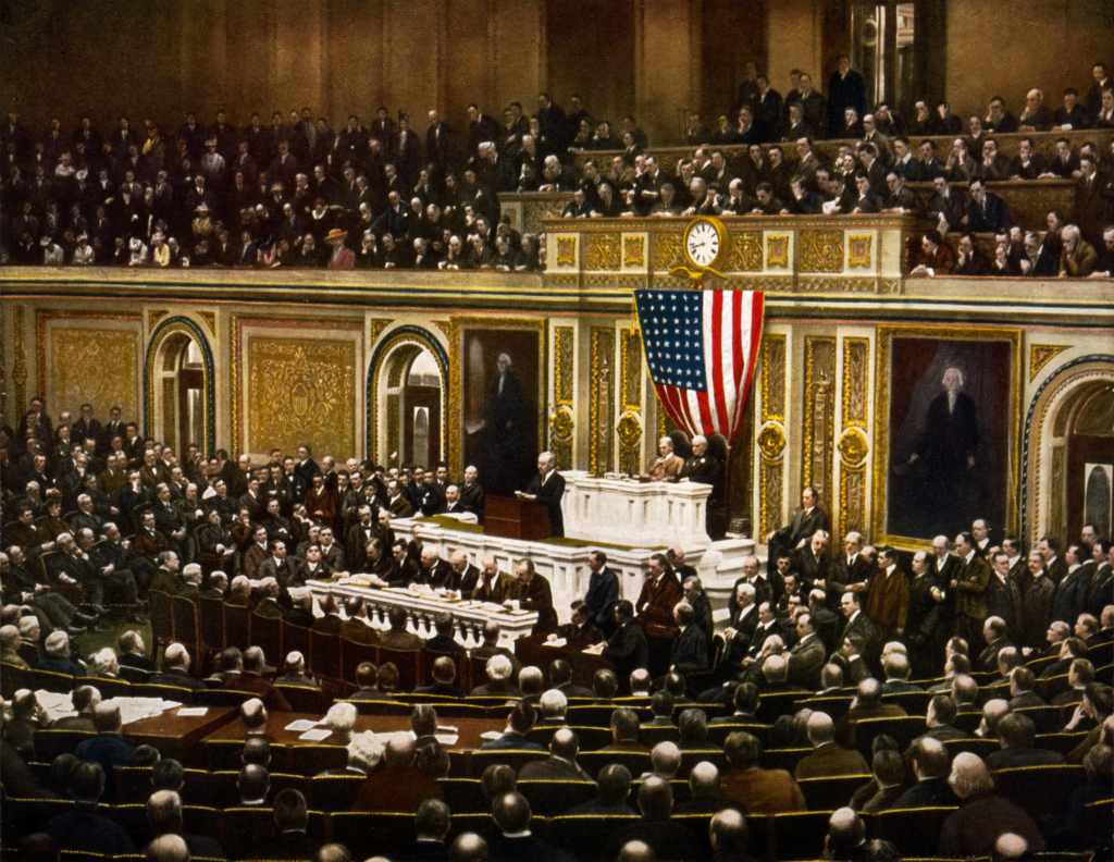 woodrow wilson s speech analyzed the speech given on 2 president woodrow wilson asking congress to declare war on causing the united states to