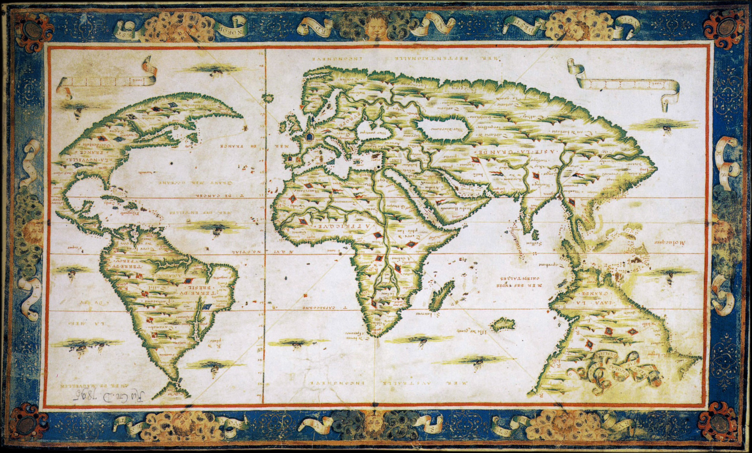 Did the portuguese discover australia in the 1520s writework mappemonde de nicolas desliens gumiabroncs Image collections