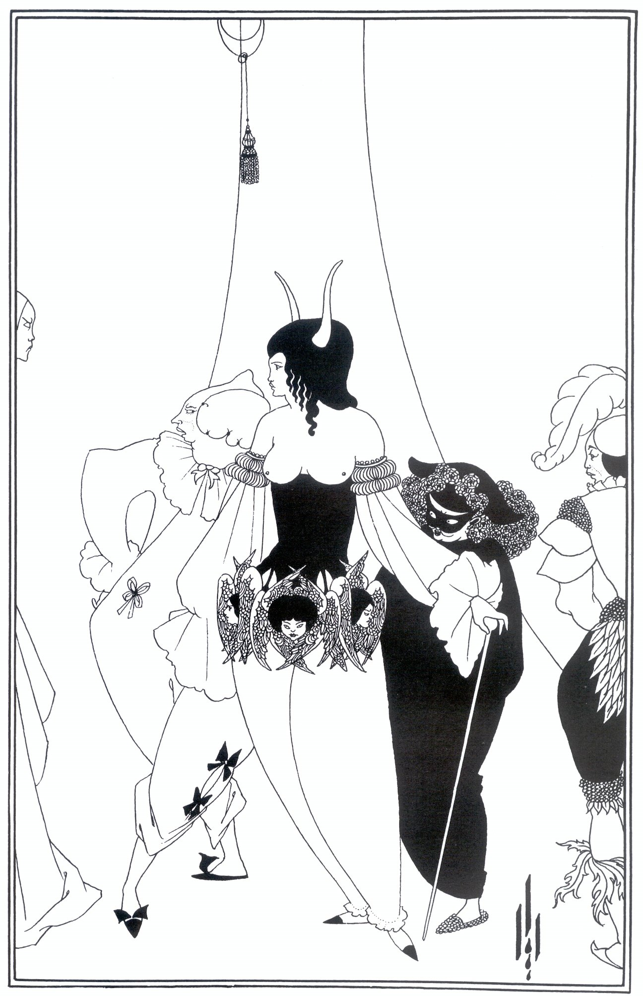 an analysis of the mask of the red death by edgar allen poe the masque of illustration by aubrey beardsley 1894 1895