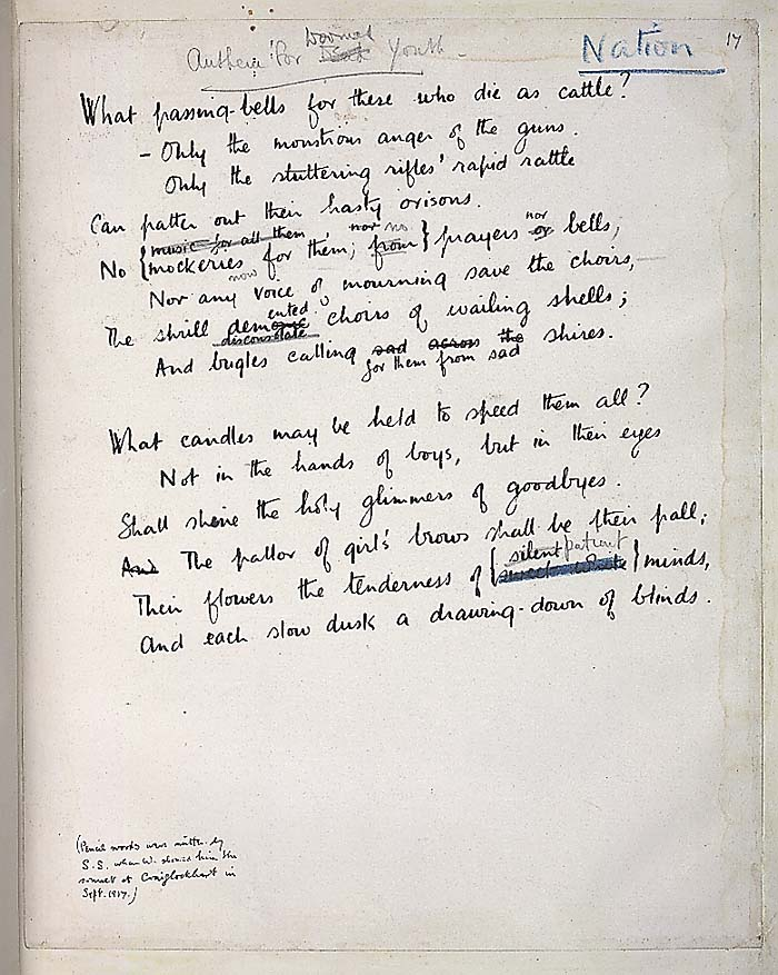 analysis of anthem Analysis of wilfred owen's poem anthem for doomed youth.