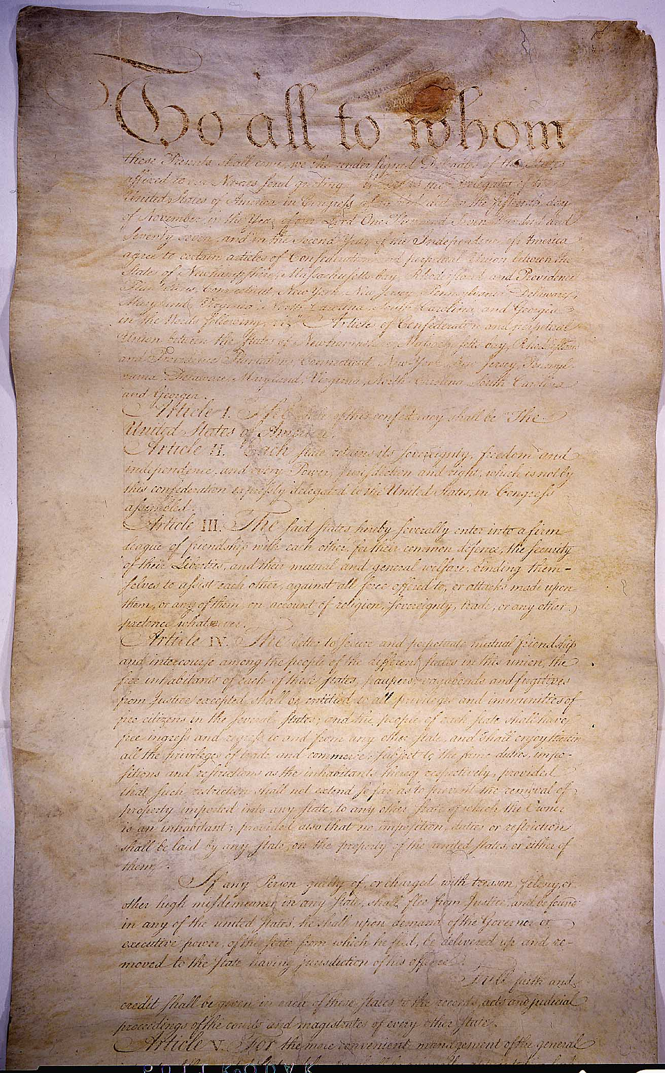 1781 1789 articles confederation provided united states ef Full faith and credit shall be given in each state to the public  such acts,  records and proceedings shall be proved, and the ef- fect thereof1   predecessor in the articles of confederation24—to solve them once and for all in  fact, the  process acts of 1789 and 1792 provided for the authentication of.