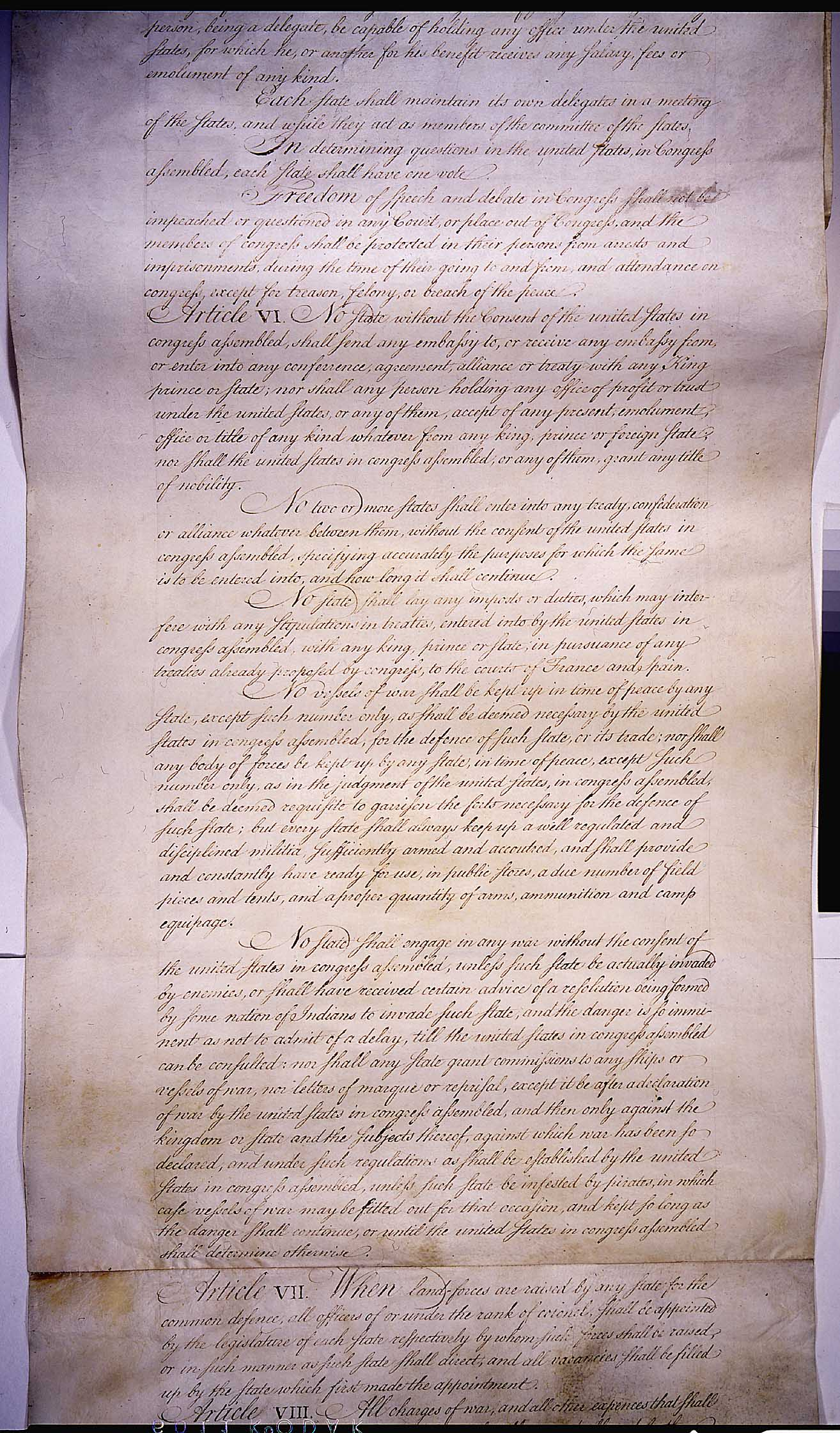 from to the articles of confederation provided the the articles of conferderation ratified in 1781 this was the format for the united