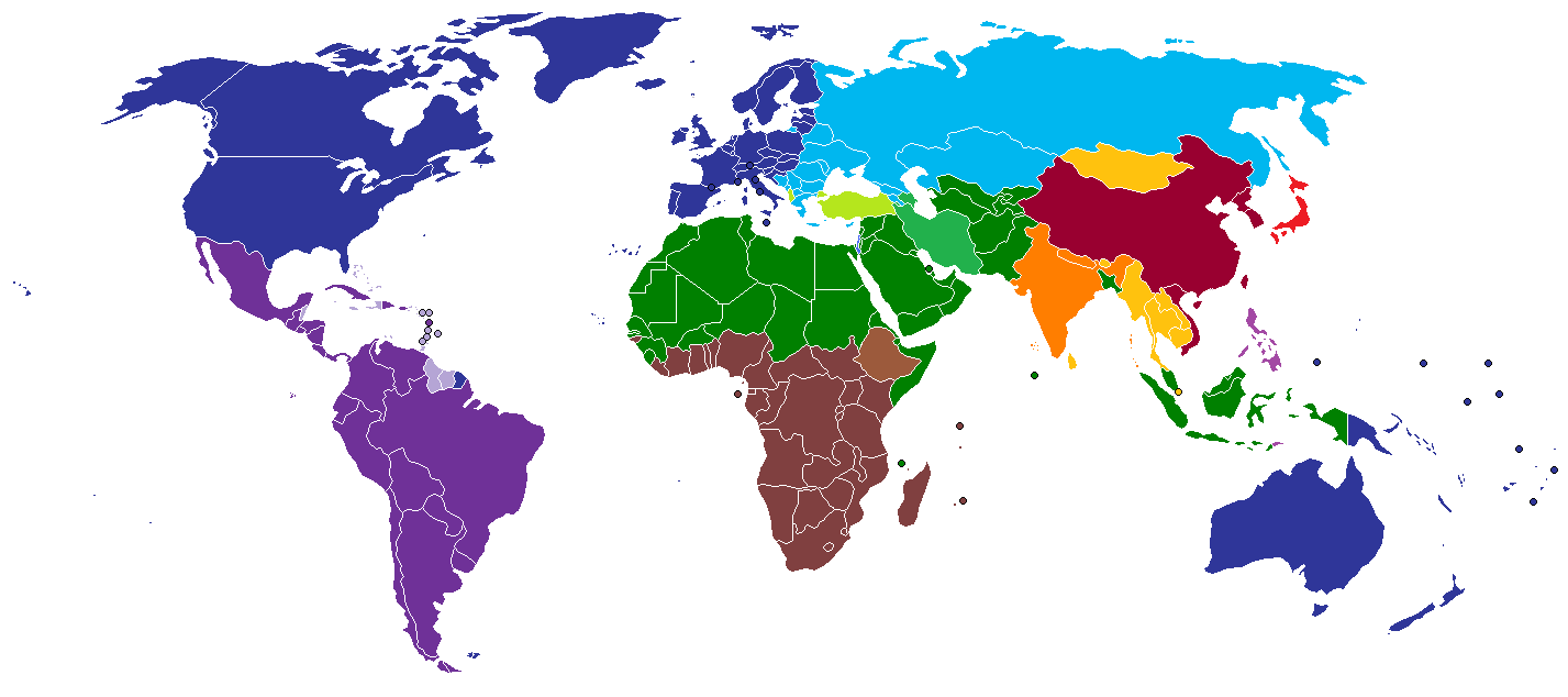 the central axis of world politics in the future is likely to be huntington s map of world civilizations 1996