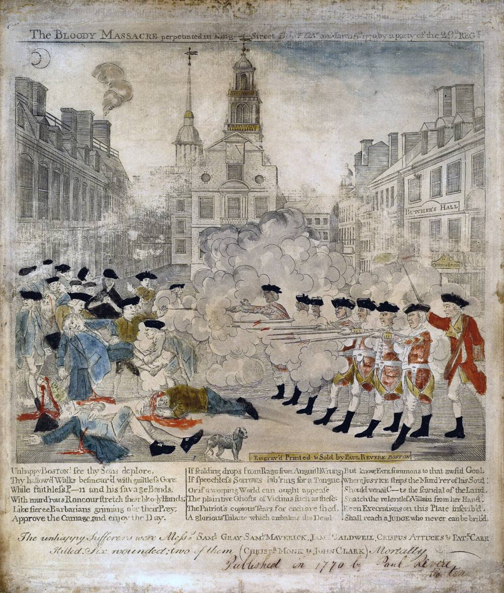 the boston massacre was britain s fault writework this engraving by paul revere portraying the boston massacre a patriot s bias shows