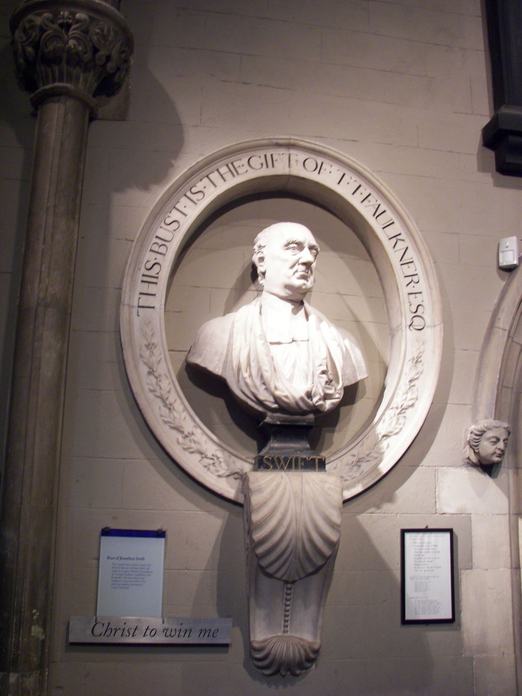 a modest proposal essay writework bust of jonathan swift near his burial spot in st patrick s cathedral dublin