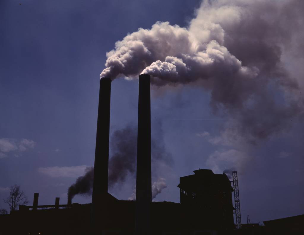 Essay Compare And Contrast Two Cities Impact Of Air Pollution English Smokestacks From A Wartime Production  Plant World War Ii Myanmasa  Comparison Essay Topics also Holden Caulfield Essay Air Pollution Research Paper Includes Introduction To Air Pollution  Trade Essay