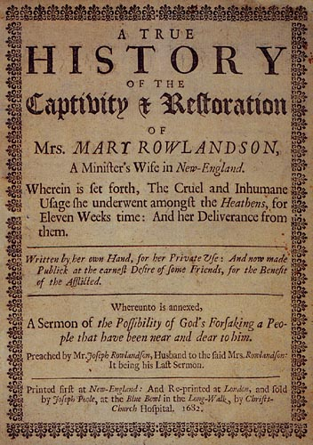 mary rowlandson vs mary jemisons essay Mary rowlandson's captivity narrative - the passage also shows that god, according restauration of mrs mary rowlandson essays] 985 words (28 pages.