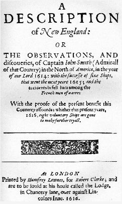 jamestown colony vs chesapeake bay colony writework titel page of a description of new england of john smith of jamestown published 1616