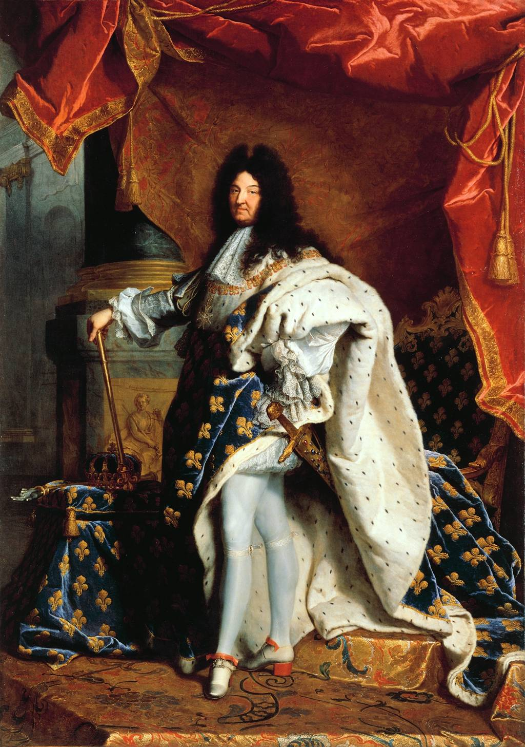 what did louis xiv hope to accomplish in his domestic and foreign  portrait of louis xiv