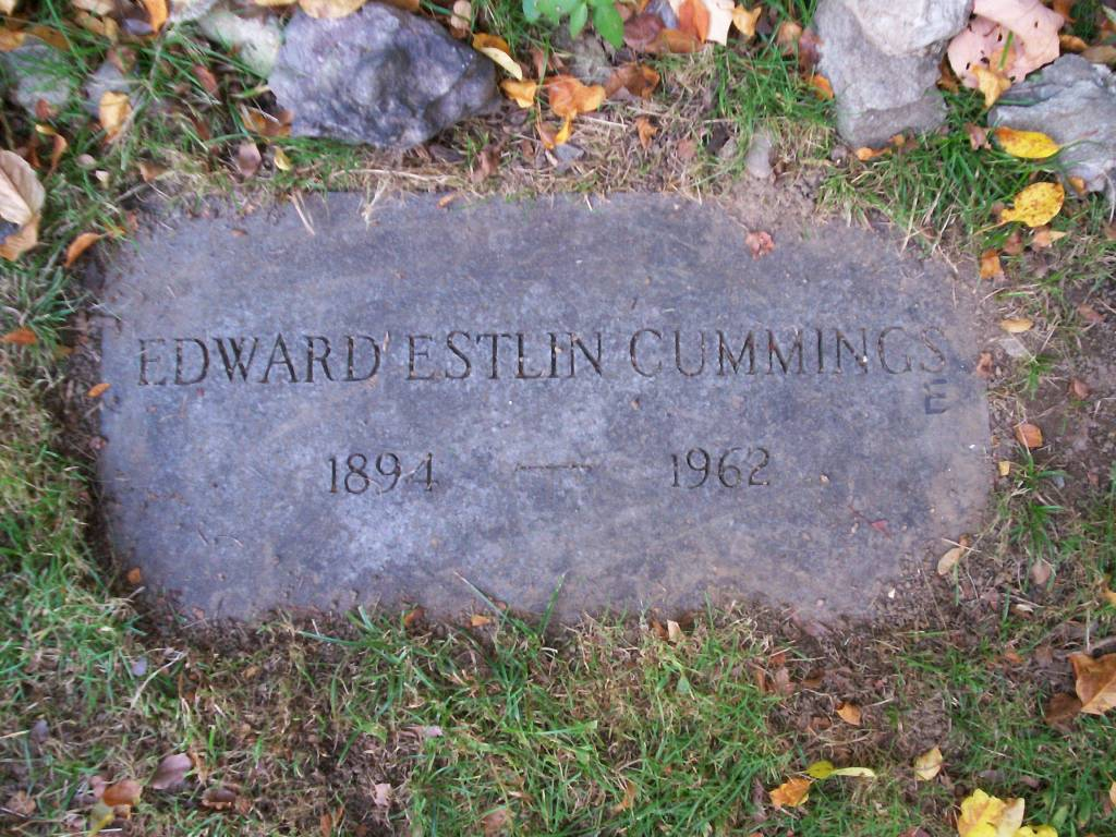 old age sticks by e e cummings analysis writework english grave of poet e e cummings located at forest hills cemetery in plain