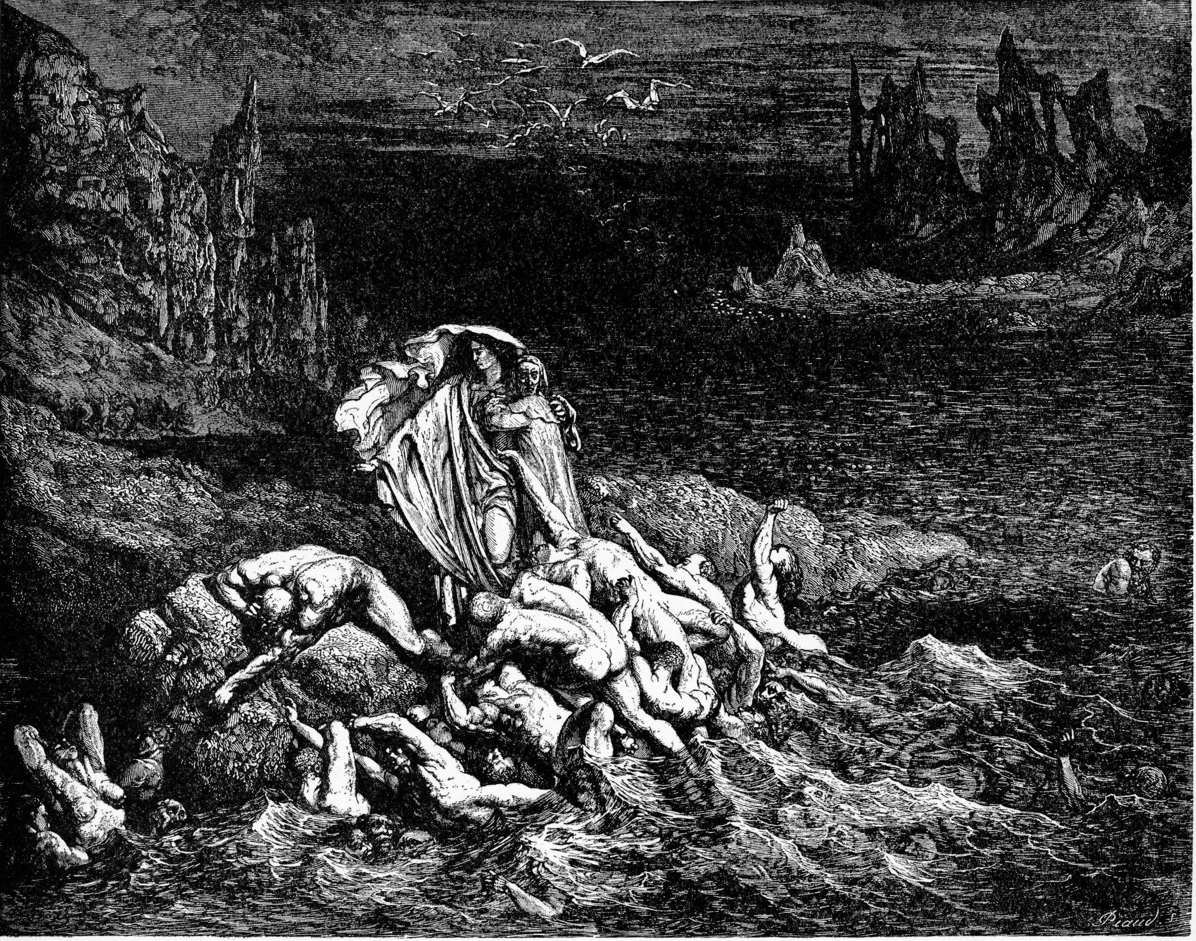 dante s inferno writework high resolution scan of engraving by gustave dore illustrating canto vii of divine comedy inferno