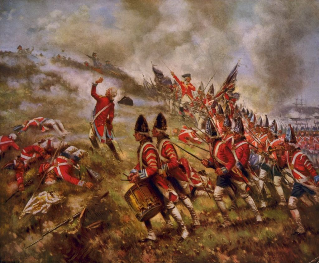 the battle of bunker hill the battle of bunker hill writework english a photomechanical halftone color print depicting the battle of bunker hill source