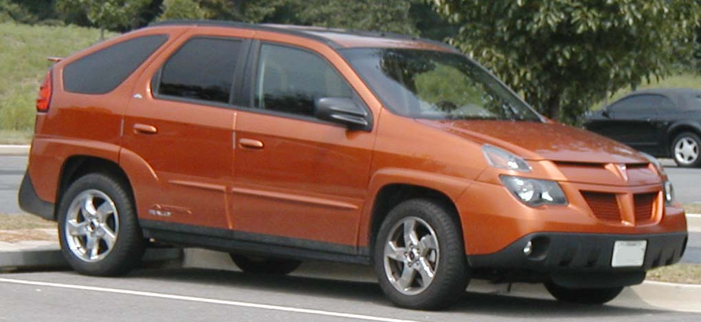 2002-2005 Pontiac Aztek photographed in USA. CategoryPontiac Aztek & Compare SUVs : Pontiac Aztec vs. Ford Escape - WriteWork