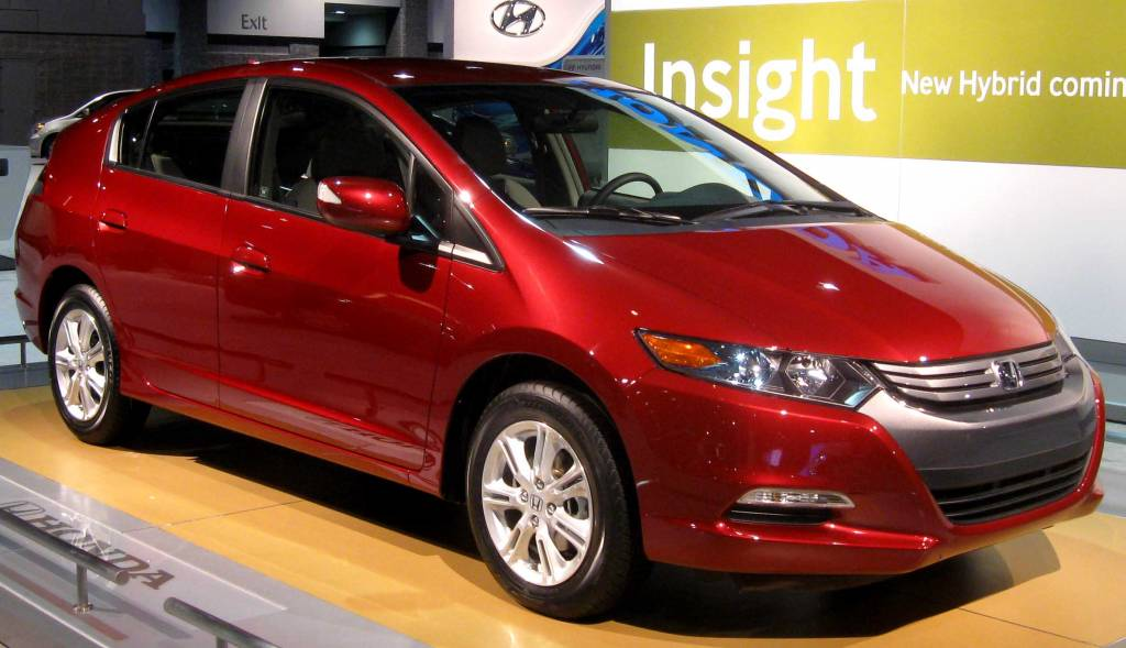 2010 Honda Insight Photographed At The 2009 Washington DC Auto Show