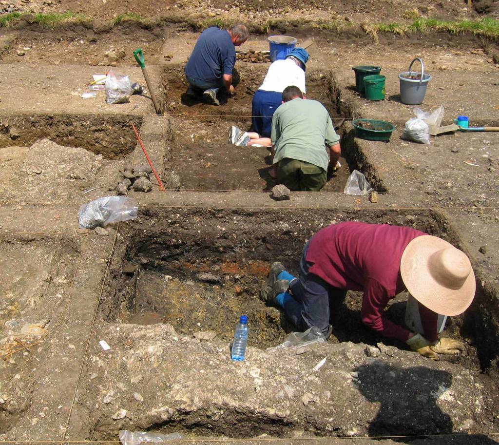 write about an archaeologist at work