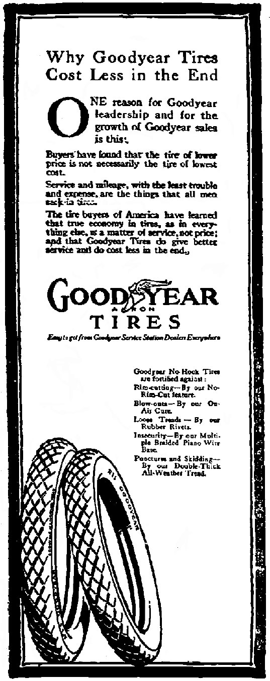 goodyear tire essay Miscellaneous essays: goodyear tire and rubber company - a marketing analysis.
