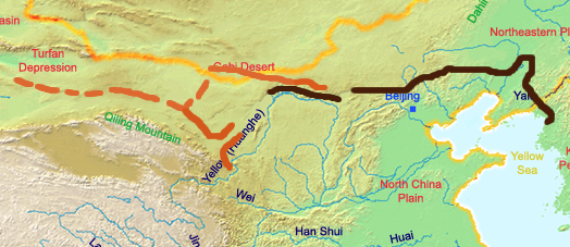 Chinese dynastic cycle writework english a map of the great wall of china of han dynasty deutsch eine gumiabroncs Choice Image