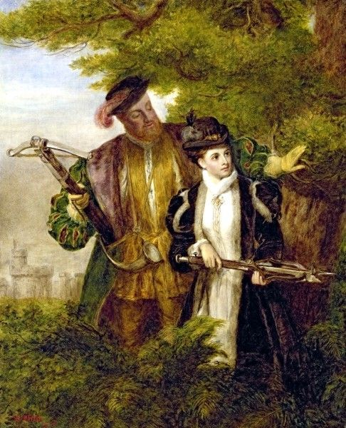 Essay  Was King Henry Viii A Good Or A Bad King  Writework King Henry And Anne Boleyn Deer Shooting In Windsor Forest