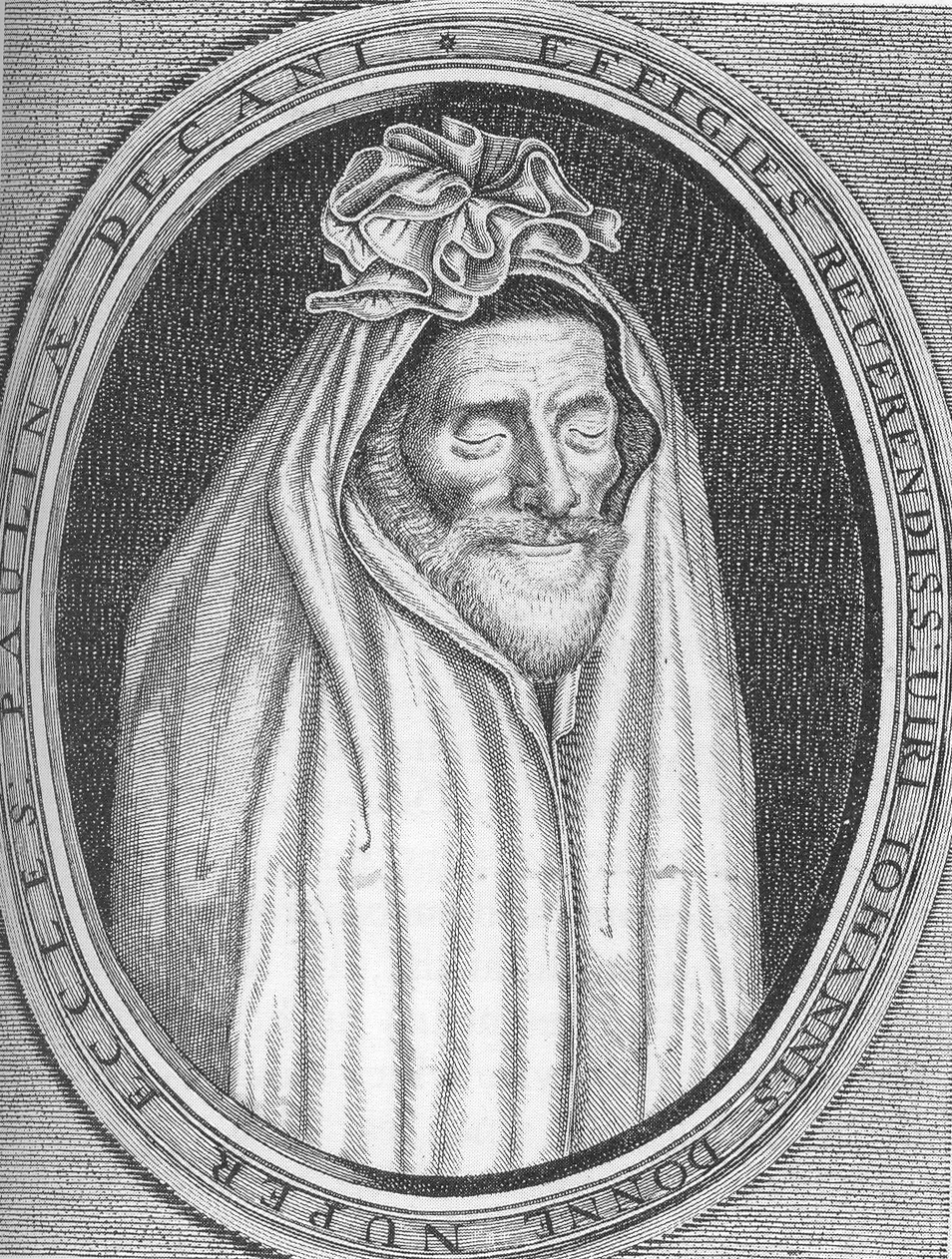 figure of speech in a valediction forbidding mourning by john john donne in his shroud he posed for this painting engraving in his later