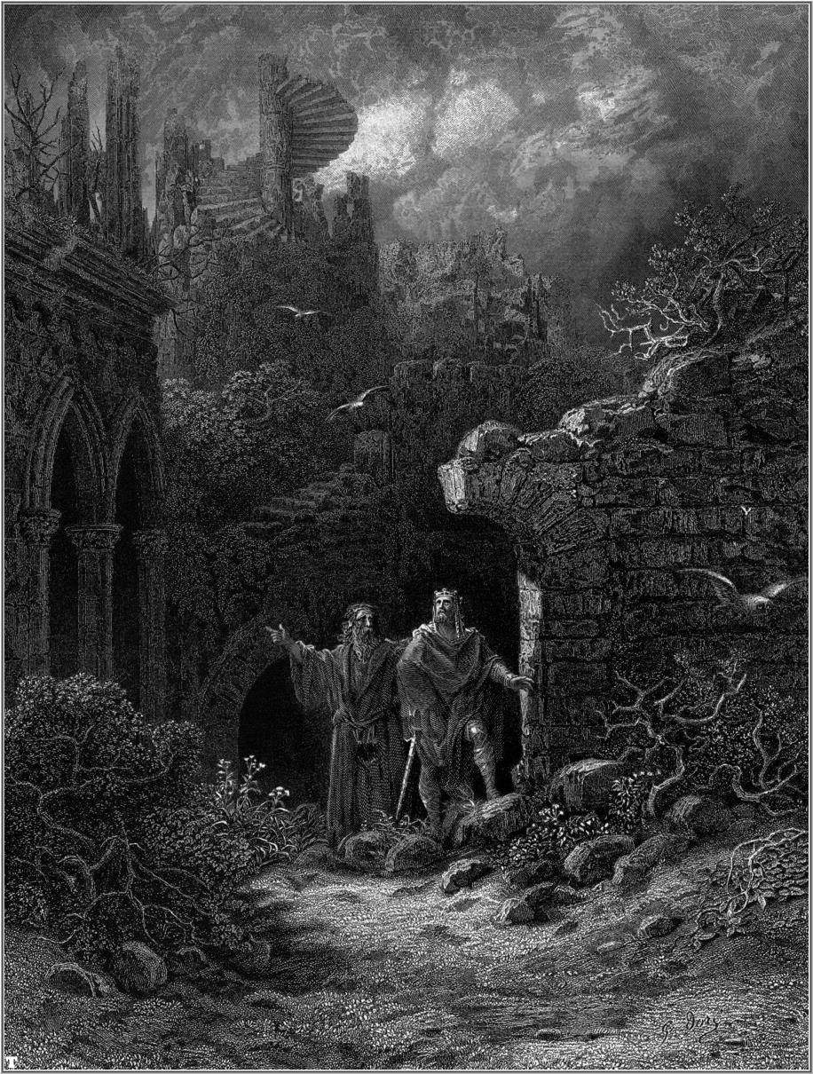 king arthur and merlin fact or fiction this essay is about wether gustave doreacute s illustration of arthur and merlin for alfred lord tennyson s idylls of the king