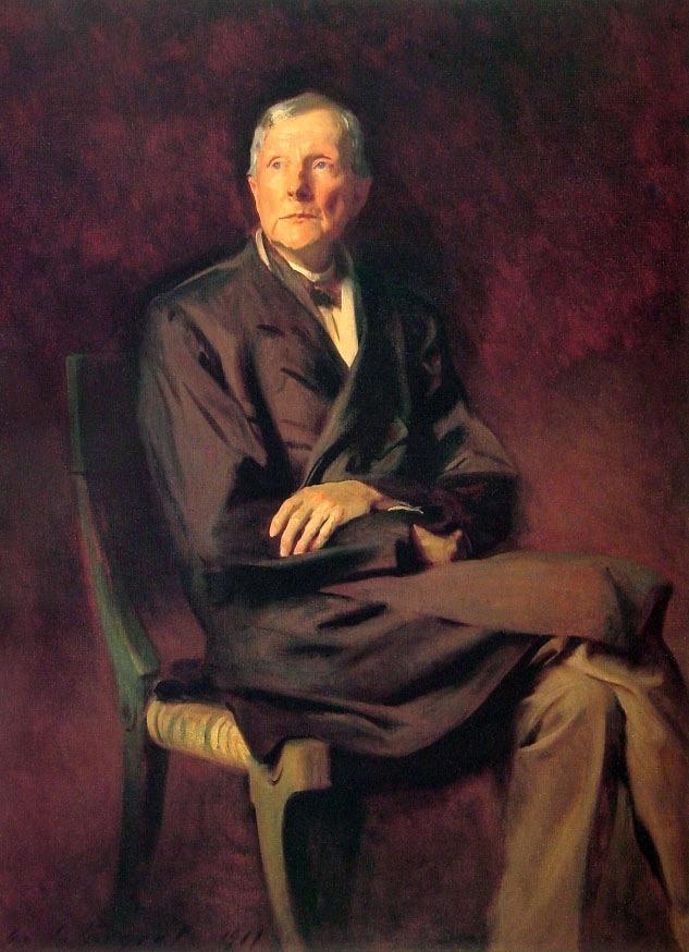john d rockefeller philanthropist or propagandist writework john d rockefeller s painting by john singer sargent in 1917