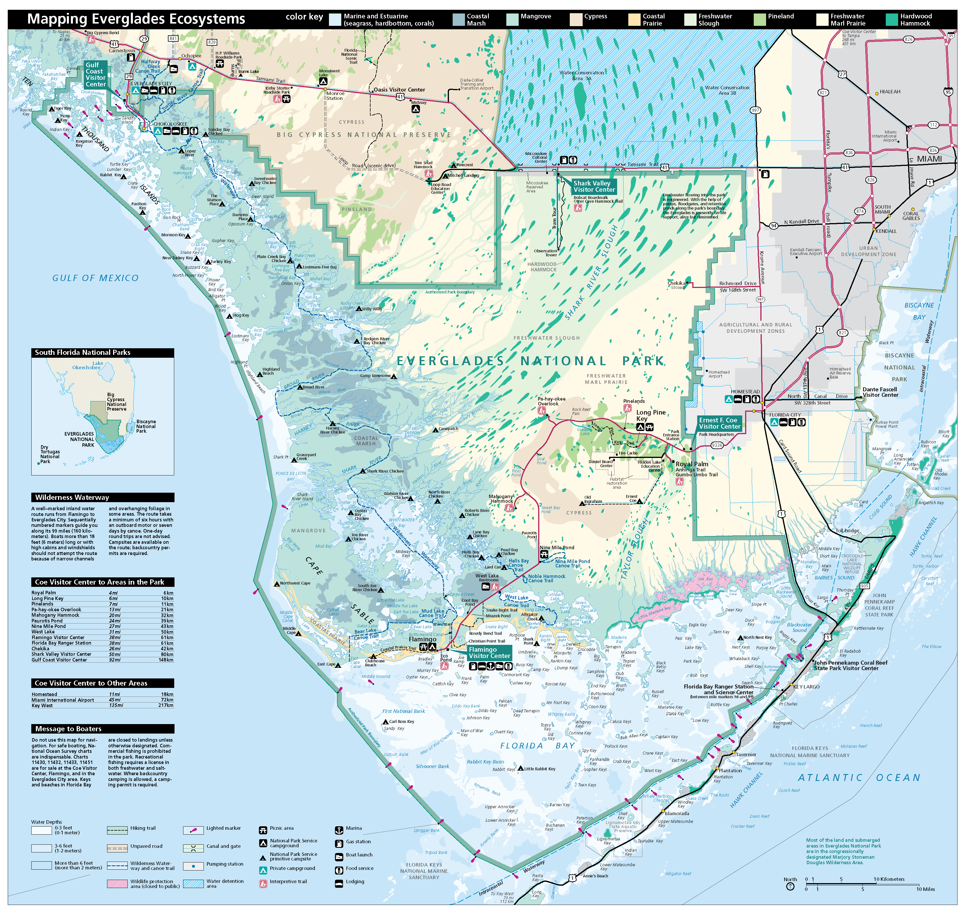 Everglades National Park WriteWork - Us national parks map pdf