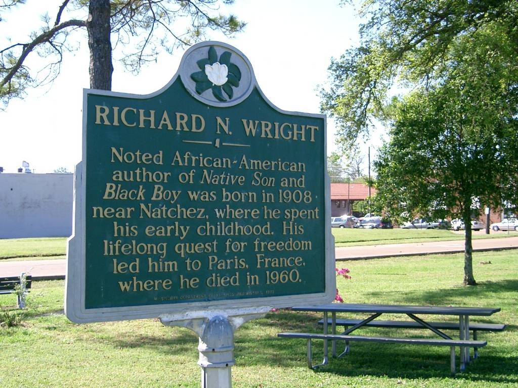 the theme of violence in richard wright s native son  commemorative plaque honoring richard wright at natchez