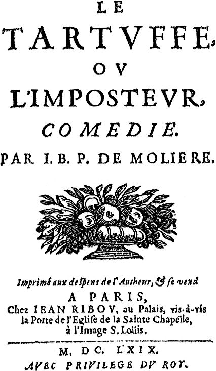 an analysis of tartuffe An introduction to a classic french play tartuffe is one of molière's masterpiecesthe play was first performed as a three-act comedy in may 1664, and was immediately denounced for supposedly 'attacking' religion through its portrayal of the pious titular hypocrite, tartuffe.