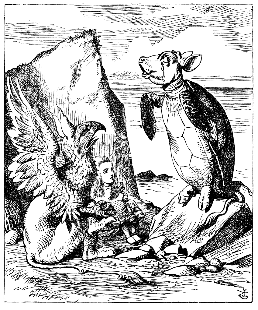 circular adventures of alice writework john tenniel`s original 1865 illustration for lewis carroll`s