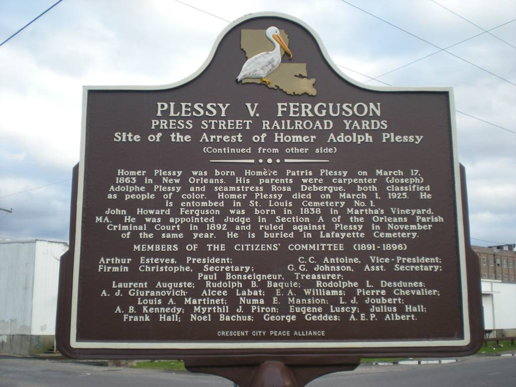 plessy v ferguson and brown v Ferguson supreme court case established that there could be separate butequal  facilities  the supreme court didnot begin to reverse plessy until the brown v.