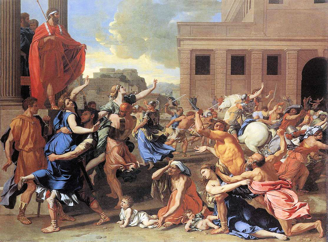 abduction of the sabine women essay The abduction of the sabine women painting by nicolas poussin in the louvre the rape of the sabine women statements instance of painting 0 references part of.