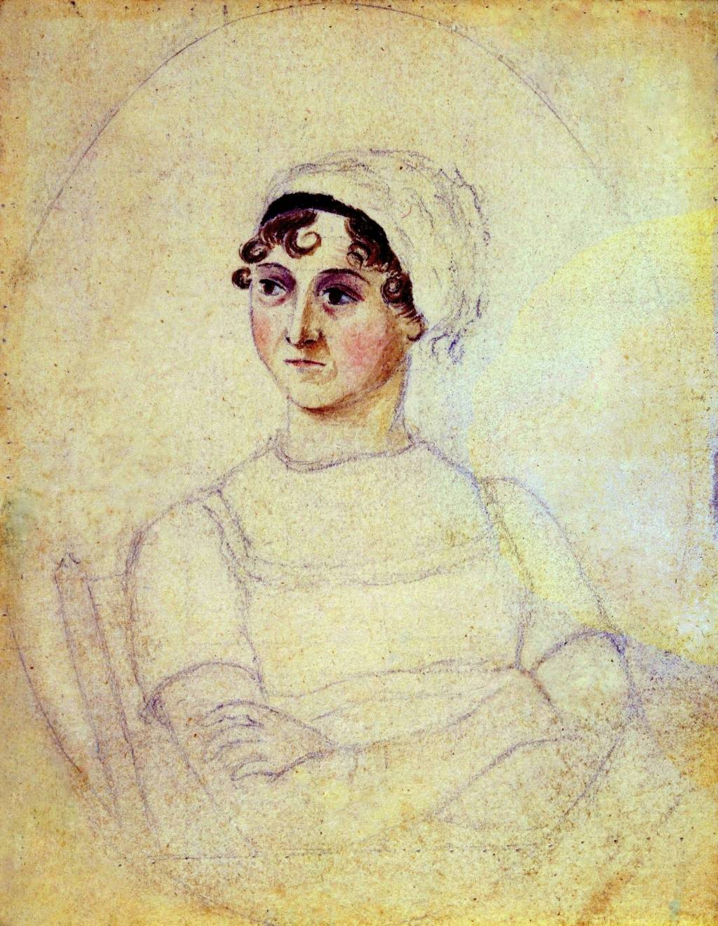 elinor and marianne from sense and sensibility by jane austen  jane austen watercolour and pencil portrait by her sister cassandra 1810