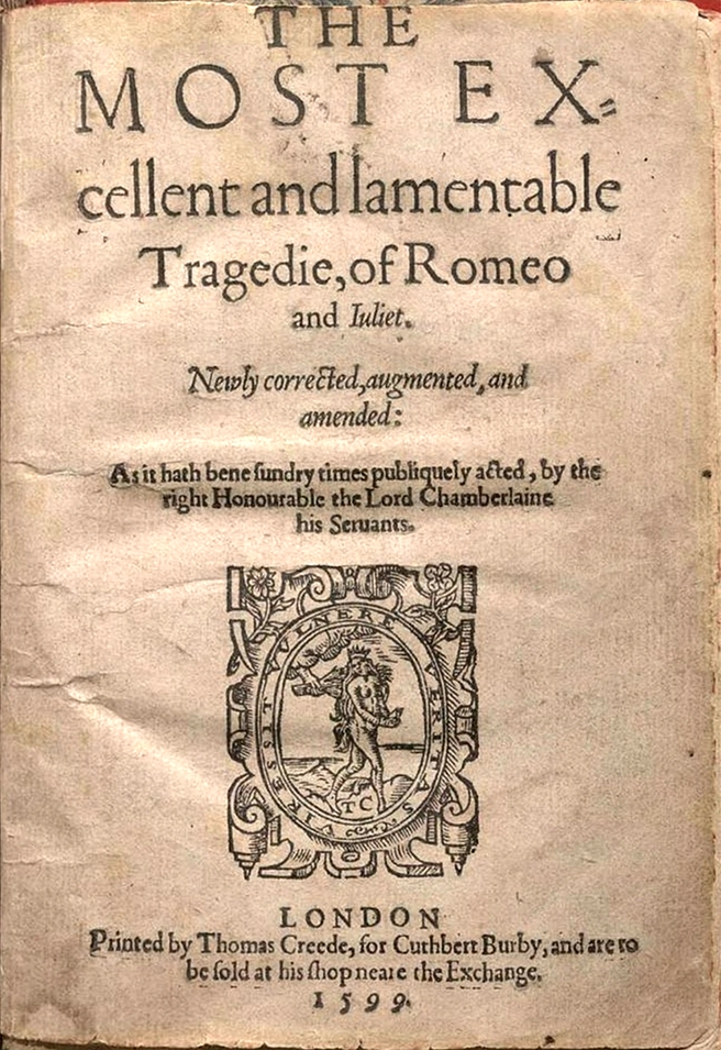 An Essay On The Similarities Between Shakespeares Romeo And  English Title Page Of The Second Quarto Edition Q Of William  Shakespeares Play