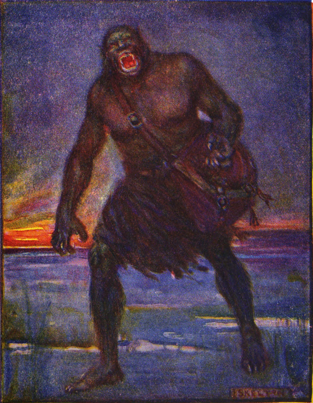 grendel in american society writework an illustration of grendel by j r skelton from stories of beowulf grendel is described as
