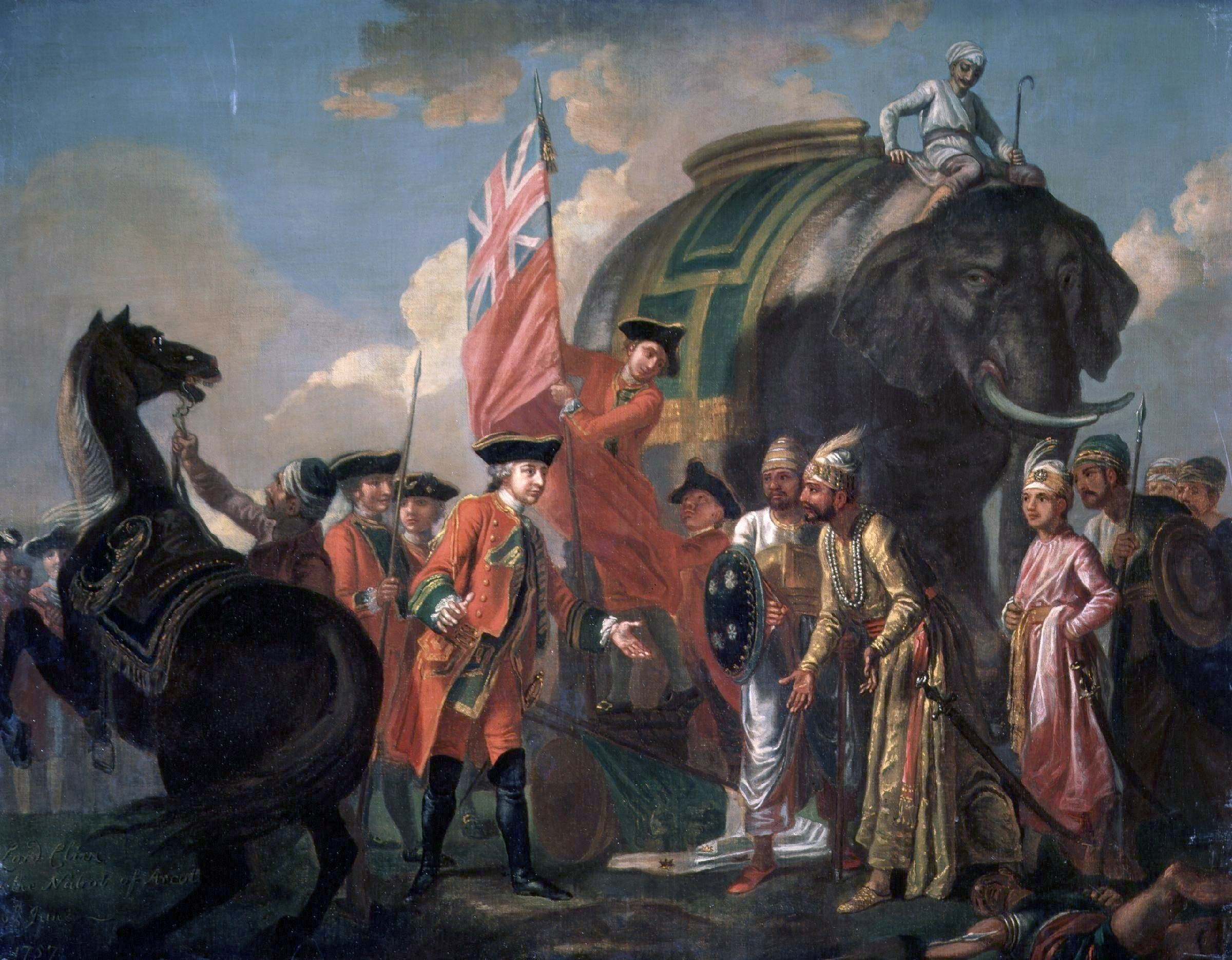 compare and contrast of the effects of imperialism of the west on robert clive 1st baron clive of plassey meeting mir jafar after plassey